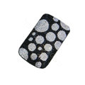 Luxury Bling Holster covers Spot diamond crystal cases for iPhone 4G - White