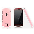 Nillkin Bright side skin cases covers for Sony Ericsson MT15i XPERIA Neo Halon - Pink (High transparent screen protector)