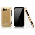 Nillkin Bright side skin cases covers for HTC Incredible S S710D S710E G11 - Gold (High transparent screen protector)
