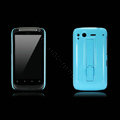 Nillkin Bright side skin cases shelf covers for HTC Desire S G12 S510e - Blue (High transparent screen protector)