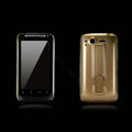 Nillkin Bright side skin cases shelf covers for HTC Desire S G12 S510e - Gold (High transparent screen protector)