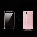 Nillkin Bright side skin cases shelf covers for HTC Desire S G12 S510e - Pink (High transparent screen protector)