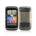 Nillkin high transparency scrub skin cases covers for HTC Desire S G12 S510e - Black (High transparent screen protector)