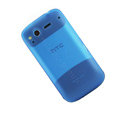Nillkin matte scrub skin cases covers for HTC Desire S G12 S510e - Blue (High transparent screen protector)
