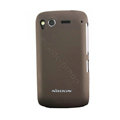 Nillkin scrub hard skin cases covers for HTC Desire S G12 S510e - Brown (High transparent screen protector)