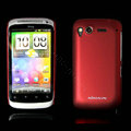 Nillkin scrub hard skin cases covers for HTC Desire S G12 S510e - Red (High transparent screen protector)