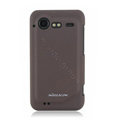 Nillkin scrub hard skin cases covers for HTC Incredible S S710D S710E G11 - Brown (High transparent screen protector)