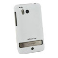 Nillkin scrub hard skin cases covers for HTC Thunderbolt 4G Incredible HD - White (High transparent screen protector)