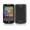 Nillkin scrub hard skin cases covers for HTC Wildfire A3380 - Black (High transparent screen protector)
