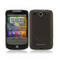 Nillkin scrub hard skin cases covers for HTC Wildfire A3380 - Brown (High transparent screen protector)