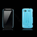 Nillkin Bright side skin hard cases covers for HTC Sensation G14 Z710e - Blue (High transparent screen protector)