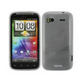 Nillkin high transparency silicone cases covers for HTC Sensation G14 Z710e - White (High transparent screen protector)