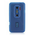 Nillkin matte scrub skin cases covers for HTC EVO 3D G17 X515M - Blue (High transparent screen protector)