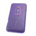 Nillkin matte scrub skin cases covers for HTC EVO 3D G17 X515M - Purple (High transparent screen protector)