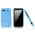 Nillkin new pishi leather Holster cases covers for HTC Sensation G14 Z710e - Blue (High transparent screen protector)