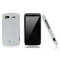 Nillkin new pishi leather Holster cases covers for HTC Sensation G14 Z710e - White (High transparent screen protector)