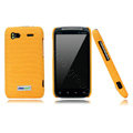 Nillkin new pishi leather Holster cases covers for HTC Sensation G14 Z710e - Yellow (High transparent screen protector)