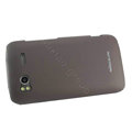 Nillkin scrub hard skin cases covers for HTC Sensation G14 Z710e - Brown (High transparent screen protector)