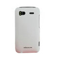 Nillkin scrub hard skin cases covers for HTC Sensation G14 Z710e - White (High transparent screen protector)