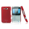 Nillkin scrub hard skin cases covers for HTC Chacha A810e G16 - Red (High transparent screen protector)