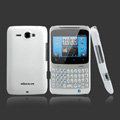 Nillkin scrub hard skin cases covers for HTC Chacha A810e G16 - White (High transparent screen protector)