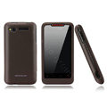 Nillkin scrub hard skin cases covers for HTC Lexicon S610D - Brown (High transparent screen protector)