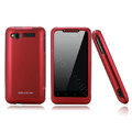 Nillkin scrub hard skin cases covers for HTC Lexicon S610D - Red (High transparent screen protector)