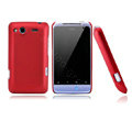 Nillkin scrub hard skin cases covers for HTC Salsa G15 C510e - Red (High transparent screen protector)