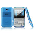 Nillkin scrub skin silicone cases covers for HTC Chacha A810e G16 - Blue (High transparent screen protector)