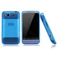 Nillkin scrub skin silicone cases covers for HTC Salsa G15 C510e - Blue (High transparent screen protector)