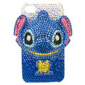 Bling Swarovski Stitch diamond crystal cases covers for iPhone 4G - Blue