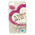 Bling Swarovski lovers Heart covers crystal diamond cases for iPhone 4G - Rose