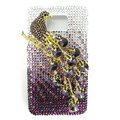 Bling Magpies Swarovski crystals diamond cases covers for Samsung i9100 Galasy S II S2 - Purple