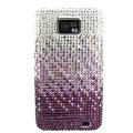 Bling Swarovski crystals diamond cases covers for Samsung i9100 Galasy S II S2 - Gradient Purple
