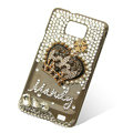 Bling Crown crystals diamonds cases covers for Samsung i9100 Galasy S II S2 - Black