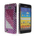 Bling Point crystals diamond cases covers for Samsung Galaxy Note I9220 - Purple