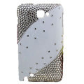 Bling Swarovski crystals diamond cases covers for Samsung Galaxy Note I9220 - White