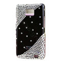 Bling Swarovski crystals diamonds cases covers for Samsung i9100 Galasy S II S2 - Black