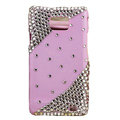 Bling Swarovski crystals diamonds cases covers for Samsung i9100 Galasy S II S2 - Pink
