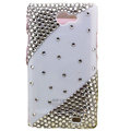 Bling Swarovski crystals diamonds cases covers for Samsung i9100 Galasy S II S2 - White