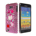 Bling hello kitty crystals diamond cases covers for Samsung Galaxy Note I9220 - Pink