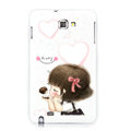 Cut gril silicone cases covers for Samsung Galaxy Note i9220 N7000 - White