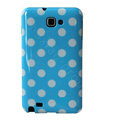 Polka Dot silicone cases covers for Samsung Galaxy Note i9220 N7000 - Blue