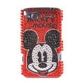 Bling Mickey Mouse crystals diamond cases covers for HTC Salsa G15 C510e - Red