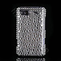 Bling Point crystals diamond cases covers for HTC Salsa G15 C510e - White