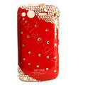 Bling Swarovski crystals diamond cases covers for HTC Salsa G15 C510e - Red