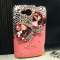 Bling bowknot Swarovski crystals diamond cases covers for HTC Salsa G15 C510e - Red