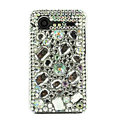 Bling Big crystals cases diamond covers for HTC Incredible S S710e G11 - White