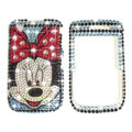 Bling Disney minnie crystals cases diamond covers for Blackberry Bold 9700 - Blue