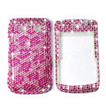 Bling Leopard crystals cases diamond covers for Blackberry Bold 9700 - Pink